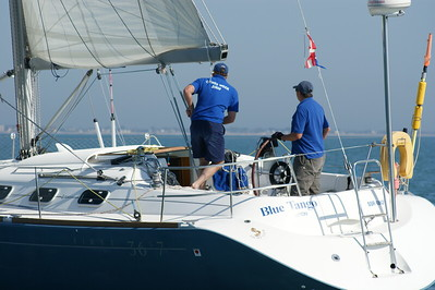 Blue Tango with Rob and Nigel on board
