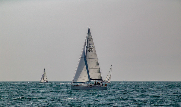 INTREPID approaches the finish