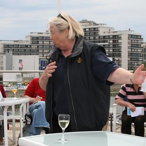 Denise Cartlidge runs the start of cruise briefing