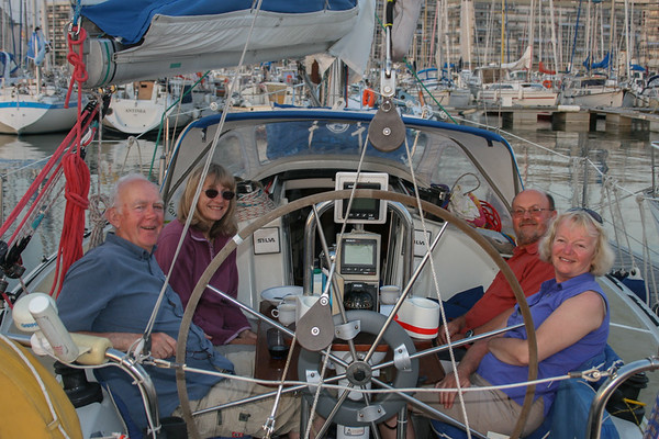 Bill & Briony Woods with friends on Sapphire at Le Havre