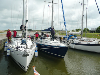 Tied up in Carentan Marina