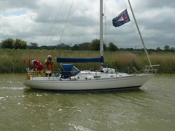 Keith and Richard on board Contessa 32, L'Aquarelle