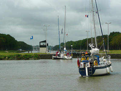 Entering the Carentan Lock
