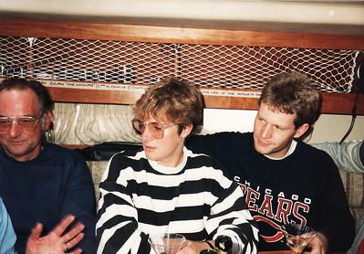 Dennis Coates, Lindsey and Iain on board Penrose II