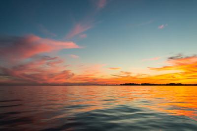 Smooth Seas at Sunset