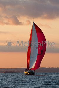 Red Sail at Night