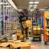 KRISTOPHER RADDER — BRATTLEBORO REFORMER<br /> William Bauer, a lead clerk at Market 32 by Price Chopper, in Brattleboro, Vt., restocks the freezer section as they work through the night to make sure everything is up for people as they buy supplies during the COVID-19 outbreak on Tuesday, March 17, 2020.