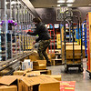 KRISTOPHER RADDER — BRATTLEBORO REFORMER<br /> The night crew at Market 32 by Price Chopper, in Brattleboro, Vt., works through the night to restock the shelves of the store as people buy supplies during the COVID-19 outbreak on Tuesday, March 17, 2020.