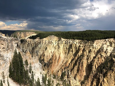 Storm over the canyon