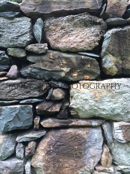 Stone column at the Inn at Sugar Hollow Farm