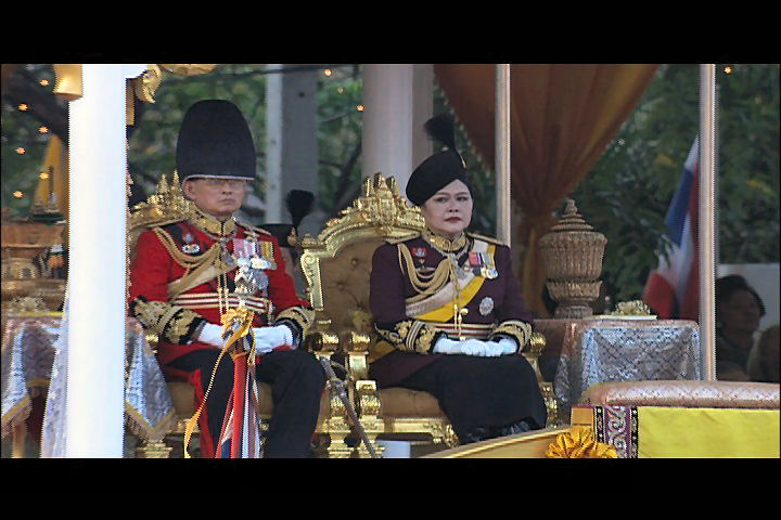 The view from my seat during the King of Thailand's 72nd Birthday Party. <br /> <br /> Bangkok, Thailand.<br /> <br /> Photo Credit: Patrick Wallace (Video Still)