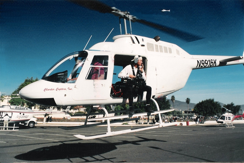 Morning checklist: Camera... Headset... Oh!, and Harness.<br /> <br /> Departing the race helipad in Ensenada, Mexico en route to chasing down Trophy Trucks in the Baja 500.<br /> <br /> Photo credit: Ivor Shier