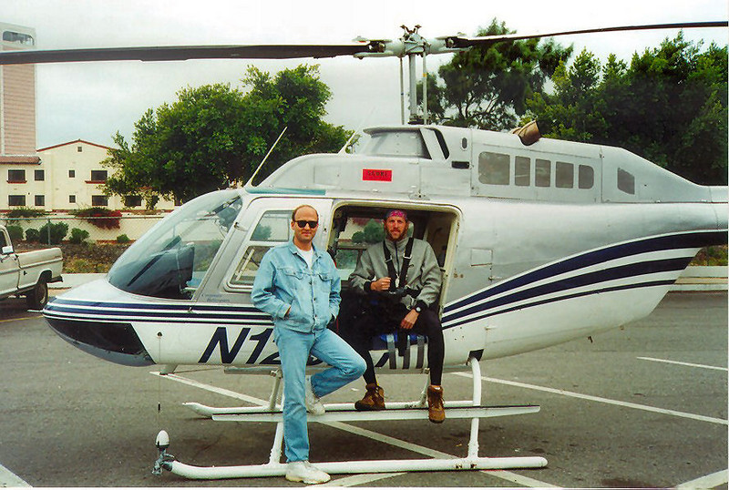 My friend and pilot, Mark Fisher, who got me in position for every shot... and brought me back alive every time. <br /> <br /> Pre-flight before the Baja 1000. Ensenada, Baja California, Mexico.<br /> <br /> Photo Credit: Unknown