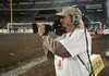 Shooting AMA Supercross from the floor of Angel's Stadium, Anaheim, California.<br /> <br /> Photo credit: Unknown
