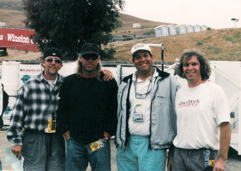 Just wasting time [literally] with my crew between Superbike races at Sears Point Raceway in Sonoma, California. <br /> <br /> Photo credit: Unknown