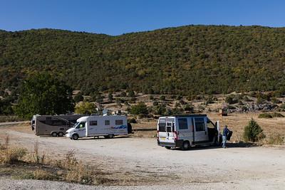 Camperplaats aan het Prespa meer