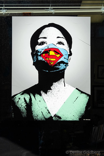 poster, woman in a mask