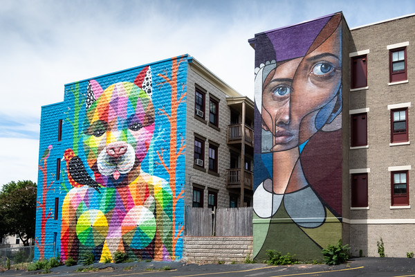 Catwitch by Okuda (left), and Untitled by Belin (right)