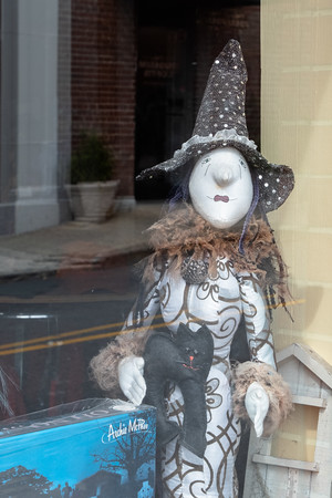 a witch in a window