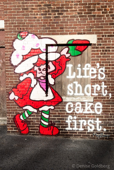 Life's short, cake first! by Meg Zany