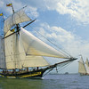 Pride of Baltimore ll Sails With Alcyone by Bill McAllen