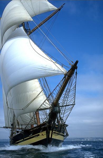Pride of Baltimore 2 ll sails Brest France by Bill McAllen