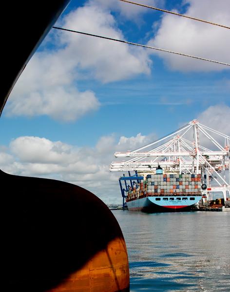 Ships shape with cranes_McAllen