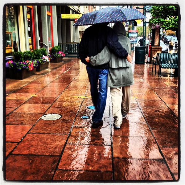 Like the rain.
