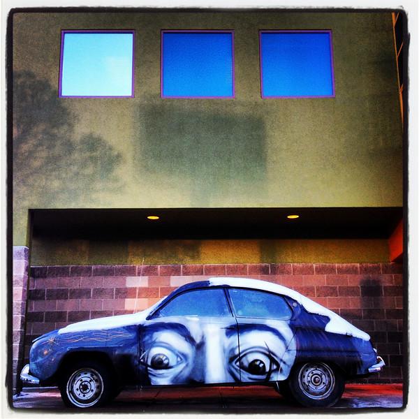 Dali with car.