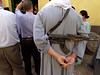 (Oct 2003 Tayiba, Egypt) -- Just one of the many gunmen the police hire to protect American visitors and a reminder of the terrorist threat still in Egypt.<br /> Photo: Michael Rieger