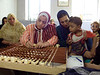 (Oct. 2003 Cairo, Egypt) -- Women at a school in Estable Antaar  learn to make rugs as part of the development that CEOSS supports.<br /> Photo: Michael Rieger