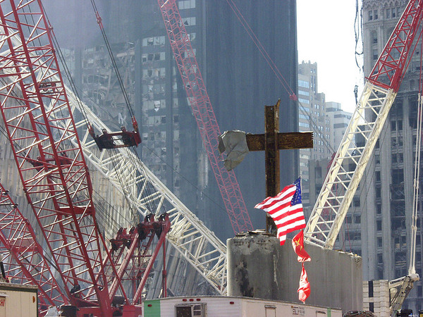DR-1391-NY 10-10-2001  (New York City, NY)  Cross from gods house.