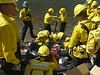 (8-26-2003 Missoula, MT)  --  US Army solders fom the 82 field arttillary regiment traing to fight fires in the FishCreek complex<br /> Photo:  Michael Rieger/FEMA