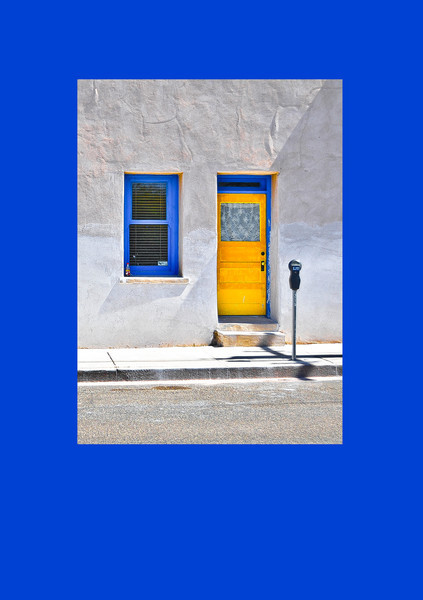 """Lace Curtain, Yellow Door,"" El Presidio District, Tucson, AZ, 2013."