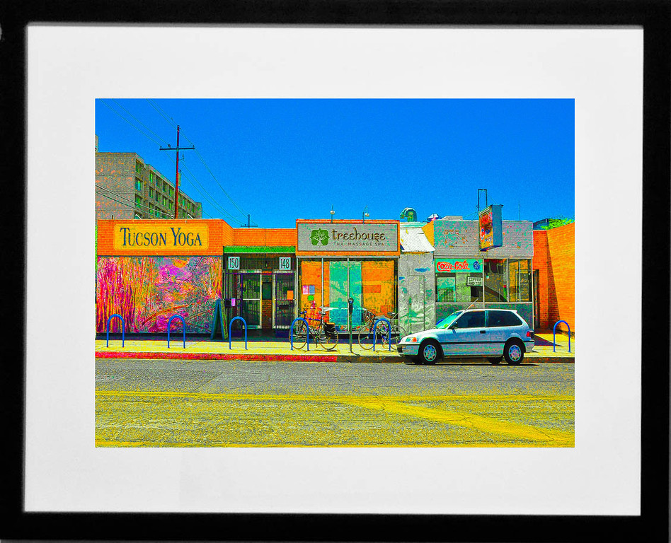 """Yoga, Spa & Laundry,"" downtown Tucson, Arizona, 2012."
