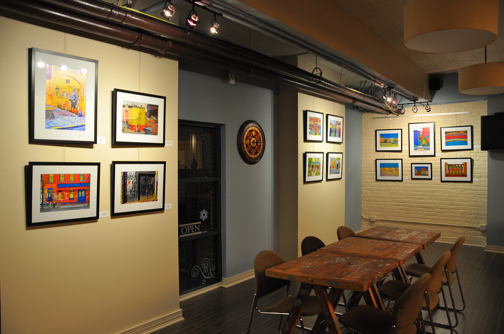 On Display at Prana Café until January 24, 2013, Evanston, IL.