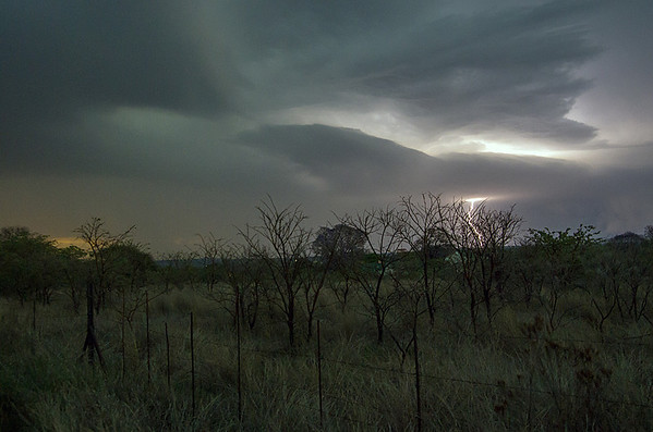 Sunset Storm with Lightening (31 October 2013)