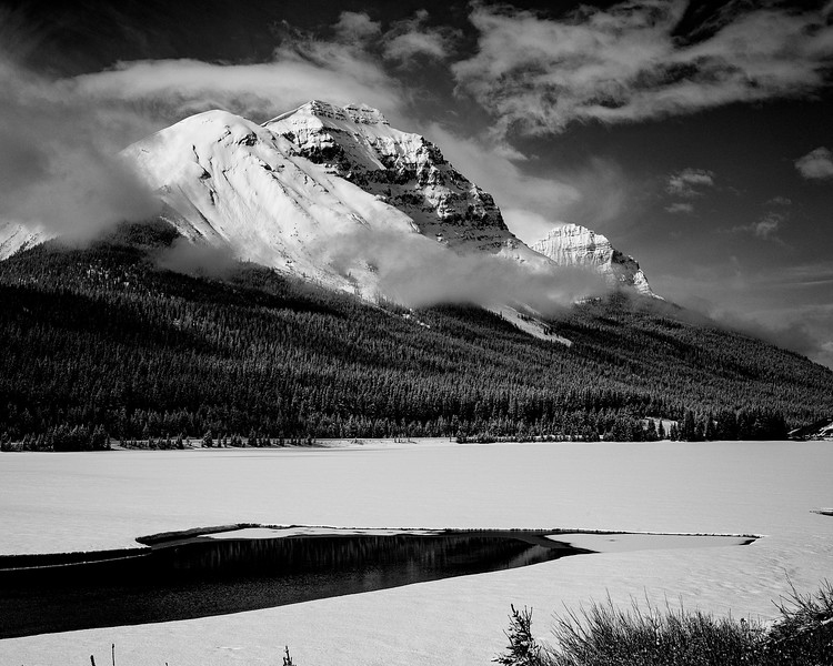 Cathedral Mountain and Wapta Lake