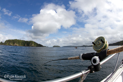 Sunny day while fishing in the Queen Charlotte Islands