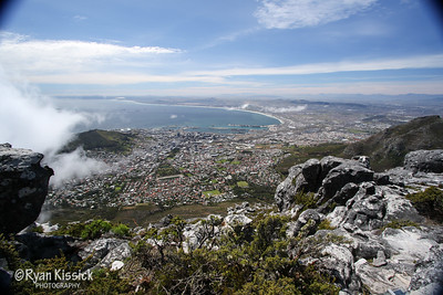 From atop Table Mountain...what a view of Cape Town