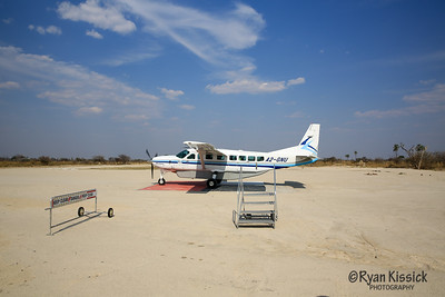 This is just after getting dropped off on safari. And this was one of the bigger planes that we took!