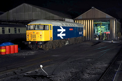 56057 stands on Wansford TMD on 24/02/2007.