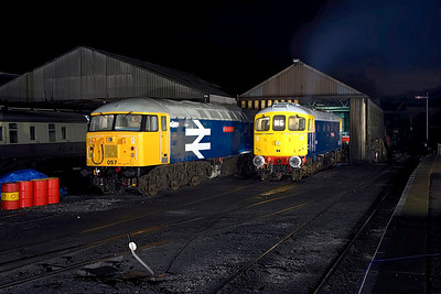 56057 & 33065 stand on Wansford TMD on 24/02/2007.