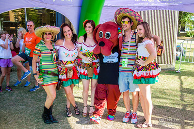 Mexican costumes and a red dog, how could I not take this picture?
