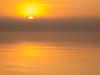 Foggy sunrise, Lake Michigan