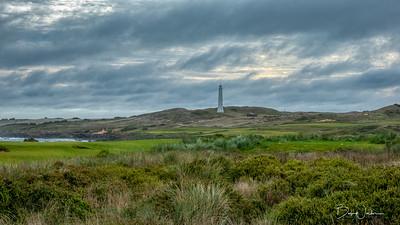 Cape Wickham Lighthouse seen from golf course
