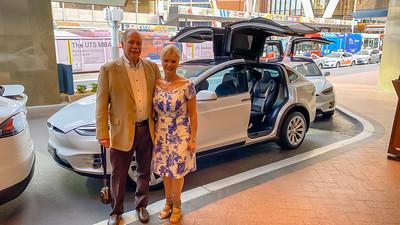 Tesla escort to dinner at the Sydney Opera House