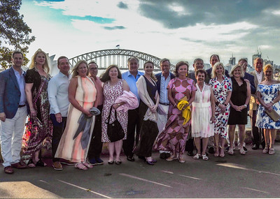 Our group going to dinner at Opera House