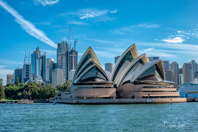 Opera House with CBD (Central Business District) in background