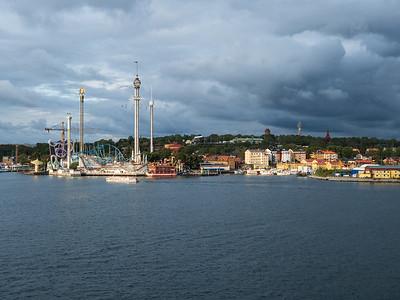 Theme park along waterfront